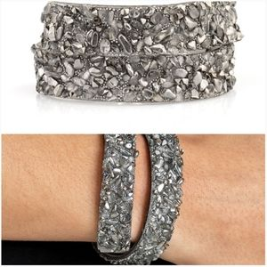 CRUSH TO CONCLUSIONS SILVER DOUBLE WRAP BRACELET